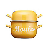 KitchenCraft World of Flavours Enamel Mussel Pot 2.5 Litre Yellow