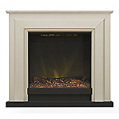 Adam Kensington Fireplace Suite in Stone Effect