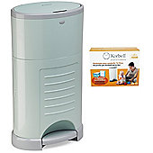 Korbell Nappy Disposal System Bundle - 16L Mint Bin and 16L Capacity Refill 3 Pack - 2 Items Supplied