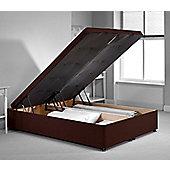 richworth ottoman divan bed frame chocolate chenille fabric super king 6ft