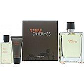 Hermes Terre D'Hermes Gift Set 100ml EDT + 40ml Shower Gel + 15ml Aftershave Balm For Men