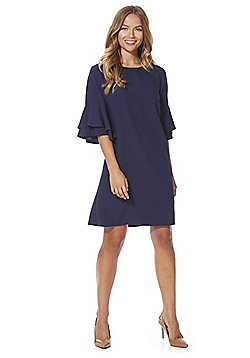 F&F Double Bell Sleeve Shift Dress - Navy