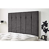 Aspire Furniture Portmoor Headboard in Katsuro Linen Fabric - Pewter - Small Double 4ft
