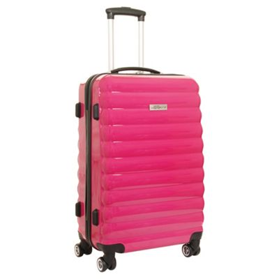Buy Luggage Zone Hard 4-Wheel Large Pink Suitcase from our ...