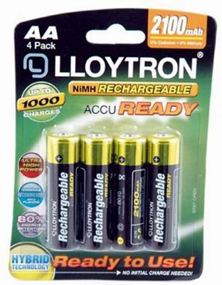 Lloytron AA NiMH AccuReady Rechargeable Battery (Set of 4)