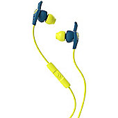 Skullcandy XT Plyo Teal Blue in ear sports headphones with Mic