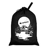 Sleigh Ride Santa Sack 46x60cm, Black