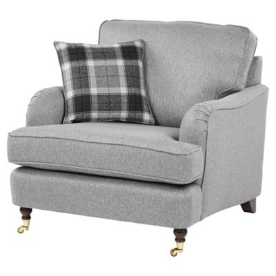 Fox U0026 Ivy Carrington Armchair, Grey