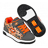 Heelys Dual Up Charcoal/Orange/Electricity Kids Heely X2 Shoe - Grey