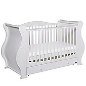 Tutti Bambini Marie (Louis) Cotbed/Drawer/Sprung Mattress - White Finish