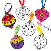 Christmas Tree Bauble Suncatchers Children (6 Pcs)