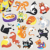 Cute Cat Foam Stickers for Children to Decorate Personalise Summer Crafts Cards and Collages (Pack of 120)