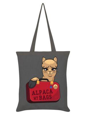 Alpaca My Bags Tote Bag 38 x 42cm Graphite Grey