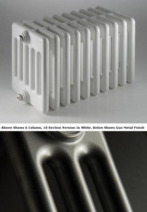 DQ Heating Peta 3 Column Designer Radiator - 492mm High x 810mm Wide - 18 Sections - Gun Metal