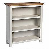 Corsica Oak Bookcase / Grey Painted Small Bookcase