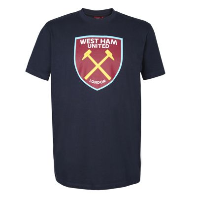 West Ham United FC Mens T-Shirt Navy Medium