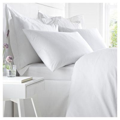 West Park 100% Cotton 200 TC Oxford Pillowcase White