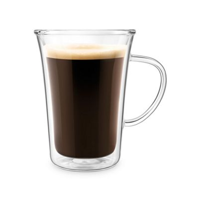 Final Touch 500ml Double-wall Insulated Coffee Glass Mug Ideal for Coffee, Tea CAT8051