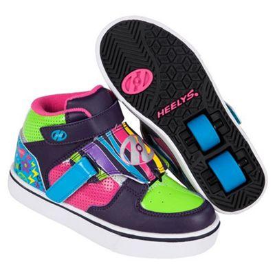 Heelys Tornado Purple/Neon Heely Shoe Kids Heely Shoe JNR 11