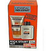 L'Oreal Men Expert Hydra Energetic Kick Start Kit Gift Set 150ml Ice Cool Face Wash + 100ml Ice Cool Post Shave Gel