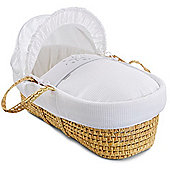 Clair de Lune Palm Moses Basket (Stardust White)