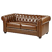 Mortimer Chesterfield Medium 2.5-Seat Leather Sofa, Tan