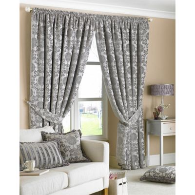 Riva Home Hanover Silver Pencil Pleat Curtains - 66x72 Inches (168x183cm)