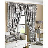 Riva Home Hanover Pencil Pleat Curtains - Silver