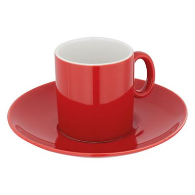 Judge Red Espresso Cup and Saucer 0.07L