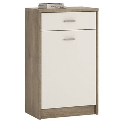 Kensington 1 Drawer 1 Door Cupboard Grey Oak/White
