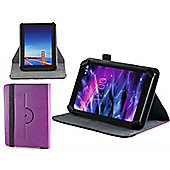 Navitech Purple Faux Leather Case Cover With 360 Rotational Stand For The Windows Connect 8