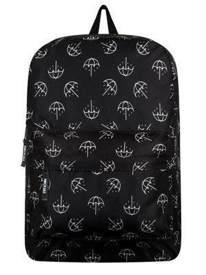 Bring Me The Horizon RockSax Black & White Umbrella Print Backpack 32x42x11cm
