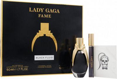 Lady Gaga Fame Gift Set 50ml EDP + 10ml Roller Ball + Tattoo For Women