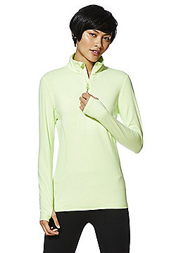 F&F Active Half Zip Top - Lime