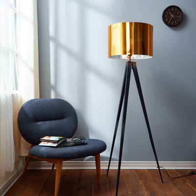 Versanora Tripod Floor Standard Lamp Gold Shade Modern Lighting VN-L00004