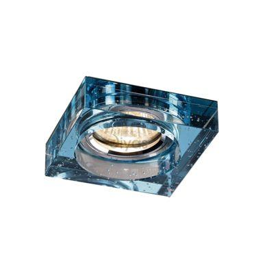 Crystal Bubble Downlight Square Rim Only Aqua