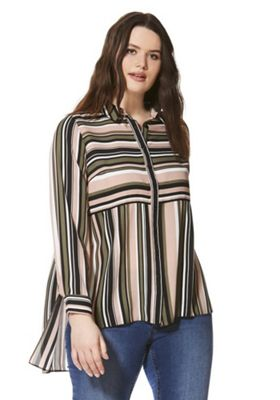 Lovedrobe Striped Plus Size Shirt Multi 24
