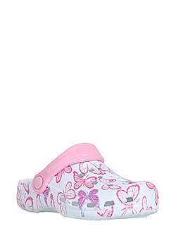 F&F Glitter Butterfly Clogs - Pink