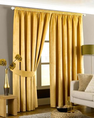 Buy Riva Home Imperial Velvet Woven Pencil Pleat Lined Curtains ...