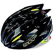 SH+ Zeuss Pro Helmet: Black/Yellow L/XL.