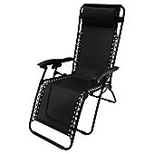Black Gravity Relaxer Garden Chair