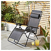 Culcita Black Gravity Relaxer Garden Chair