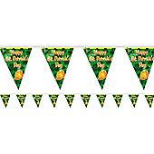 St. Patrick's Day Decorations Plastic Flag Banner - 3.65m