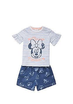 Disney Minnie Mouse T-Shirt and Denim Shorts Set - Blue