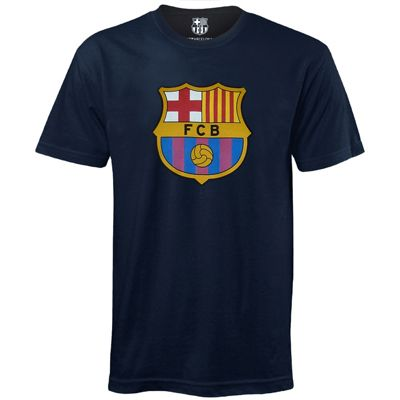 FC Barcelona Mens T-Shirt Navy Small