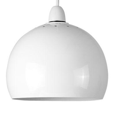 Arco Metal Ceiling Pendant Light Shade, White