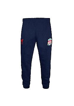 Liverpool FC Boys Slim Fit Jog Pants - Blue