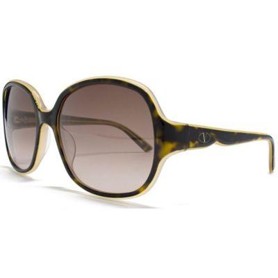 Valentino Sunglasses Two Tone Square in Tort/Beige.