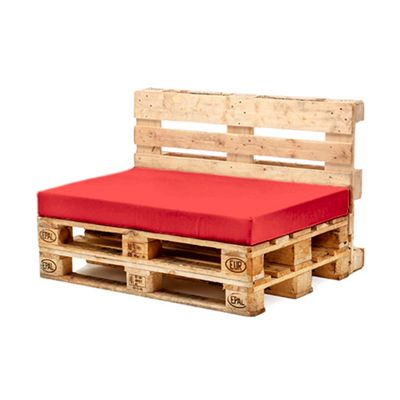 Red Seat Fibre Printed Pallet Cushions Hollowfibre Garden Patio