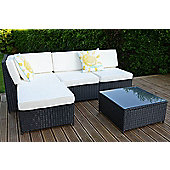 Cadiz Garden Rattan Corner Sofa Set with Table Truffle